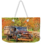 Old Farm Truck Fall Foliage Vermont Square Weekender Tote Bag