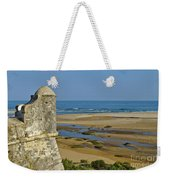 Old Fortress Guarding Tower In Portugal Weekender Tote Bag