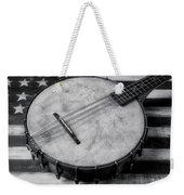 Old Mandolin Banjo In Black And White Weekender Tote Bag