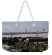 Old New Jersey Pier Statue State Park II Weekender Tote Bag