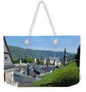 old town walls and church and buildings of Cochem Weekender Tote Bag