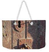 Old Wooden Door And Keyhole Weekender Tote Bag