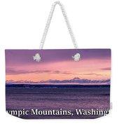 Olympic Mountains, Washington Weekender Tote Bag