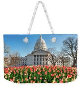 On A Bed Of Tulips Weekender Tote Bag