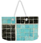 On A Theme Of Turquoise And Black Weekender Tote Bag