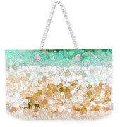On The Beach Abstract Painting Weekender Tote Bag
