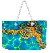 Opal Sea Turtle Weekender Tote Bag