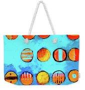 Orange Dots Weekender Tote Bag