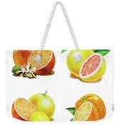 Orange Grapefruit Lemon Watercolor Fruit Illustration Weekender Tote Bag