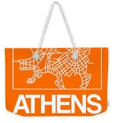 Orange Map Of Athens Weekender Tote Bag