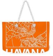 Orange Map Of Havana Weekender Tote Bag