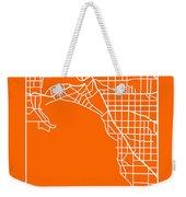 Orange Map Of Melbourne Weekender Tote Bag