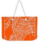Orange Map Of New York Weekender Tote Bag