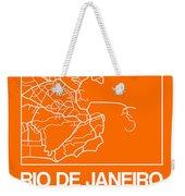 Orange Map Of Rio De Janeiro Weekender Tote Bag