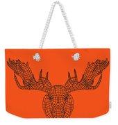 Orange Moose Weekender Tote Bag