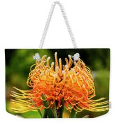 Orange Protea Weekender Tote Bag