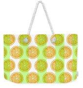 Orange Slice Pattern 2 - Tropical Pattern - Tropical Print - Lemon - Orange - Fruit - Tangerine Weekender Tote Bag