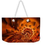 Orange Weave Weekender Tote Bag