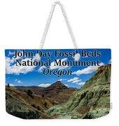 Oregon - John Day Fossil Beds National Monument Blue Basin Weekender Tote Bag