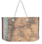 Oregon Washington Historic Map Colton Sepia Map Hand Painted Weekender Tote Bag