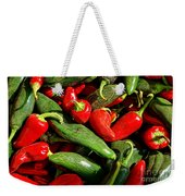 Organic Red And Green Peppers Weekender Tote Bag
