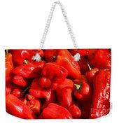 Organic Red Peppers Weekender Tote Bag