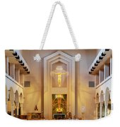 Our Lady Of The Universe Cathedral Weekender Tote Bag