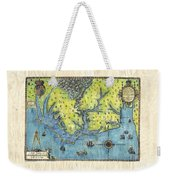 Outer Banks Historic Antique Map Hand Painted Weekender Tote Bag