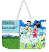 Over The Hills And Far Away With Words Weekender Tote Bag