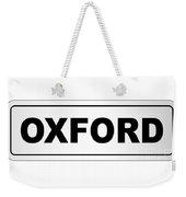 Oxford City Nameplate Weekender Tote Bag