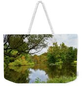 Painted Fall On The Back Pond Weekender Tote Bag