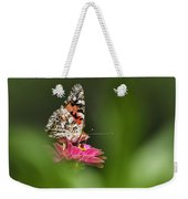 Painted Lady Butterfly At Rest Weekender Tote Bag