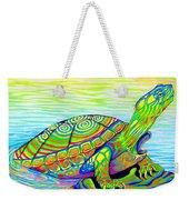 Painted Turtle Weekender Tote Bag