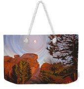 Pale Moon Over Vedauwoo Weekender Tote Bag by Art West