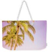 Palm Trees And Pink Sky Weekender Tote Bag