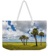Palm Trees In The Field Of Coreopsis Weekender Tote Bag
