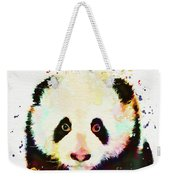 Panda Watercolor Weekender Tote Bag