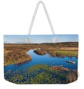 Panorama Of Mouth Of Betsie River Weekender Tote Bag