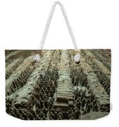 Panorama Of Pit 1, Terra Cotta Warriors Weekender Tote Bag