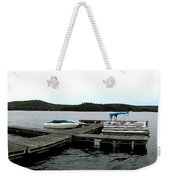 Panorama Of Schroon Lake In The Adirondack Mountains In New York Weekender Tote Bag by Rose Santuci-Sofranko