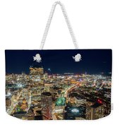 Panoramic View Of The Boston Night Life Weekender Tote Bag