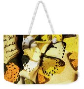 Paper Wings And Inked Out Notes Weekender Tote Bag