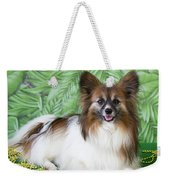 Papillon On Green Weekender Tote Bag