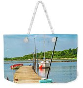 Paradise Sailing Day In Maine Weekender Tote Bag