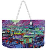Paris By Moonlight Weekender Tote Bag