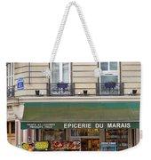 Paris Corner Grocery Weekender Tote Bag by Brian Jannsen