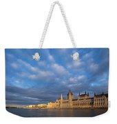 Parliament On The Danube Weekender Tote Bag by Davor Zerjav