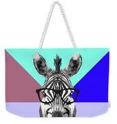 Party Zebra In Glasses Weekender Tote Bag