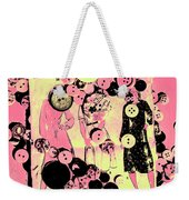 Past Patterns And Bygone Buttons Weekender Tote Bag