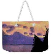 Pastel Palm Tree Sunrise Weekender Tote Bag